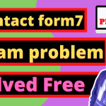 contact form 7 spam problem without a plugin
