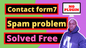 Read more about the article contact form 7 spam problem without a plugin