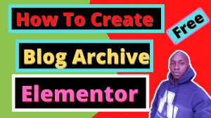 How to Design blog archive page elementor post grid free