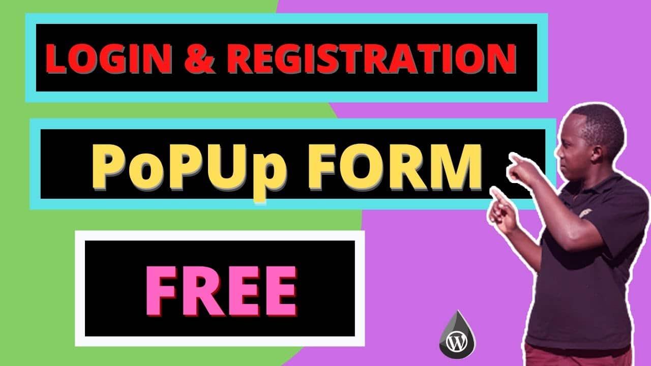 How to Create Pop up login logout Registration form menu in WordPress